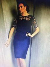 f852cd8918c SPECIAL OCCASION-LACE AND TAFFETA DRESS-NAVY-SIZE 14-JASMINE-BLACK