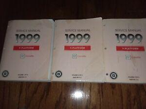 1999 CHEVROLET CORVETTE SERVICE MANUAL BOOKS 1, 2 AND 3