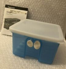 Tupperware Fridge Smart Small (4-1/2 Cup) Cool Blue w Sheer Ice Seal White Tabs