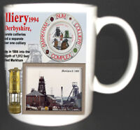 MARKHAM COLLIERY COAL MINE MUG. LIMITED EDITION GIFT MINERS DERBYSHIRE PIT
