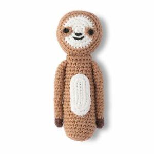 Weegoamigo Crochet Rattle Sleepy Sloth