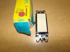 New Leviton 5601-2Im Ivory Rocker Brown Frame Single Ac Quiet Switch 15A-120V