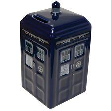 Official Doctor Who Blue Retro Design TARDIS Ceramic Money Bank Box - Boxed New