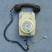 Antique Cream Brown Rotary Wall Mounted Phone