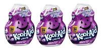 Kool-Aid Grape Flavor Enhancer Liquid Drink Mix 3 Bottle Pack