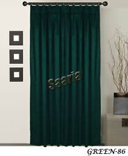 Saaria Velvet Pinch Pleated Curtain Home Theater Event Drape 8'W x 8'H Green-86
