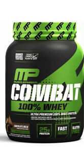 MusclePharm Combat 100% Whey Muscle-Building Whey Protein Powder Chocolate Milk
