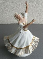Große Unterweissbach Porzellan Figur Tänzerin 25 cm Porzellanfigur Thüringen