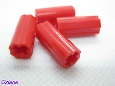 LEGO SPARES PARTS 6538c RED TECHNIC AXLE CONNECTOR SMOOTH WITH X HOLE + ORIENTAT