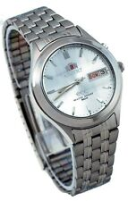 Orient BEM5V002W Men's 3 Star Faceted Crystal Silver Dial Automatic Watch