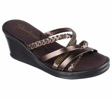 Skechers Leather Solid Sandals & Flip Flops for Women