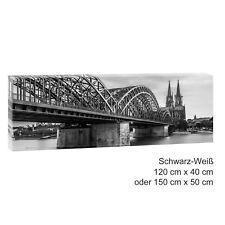Köln Bild Poster Leinwand Panorama Wandbild Fotoleinwand 120 cm*40 cm 539 sw