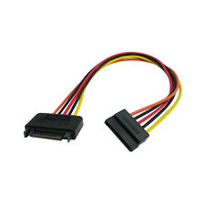 """12"""" 15-Pin SATA Male to Female Power Extension Cable for PC Computer SSD/HDD"""