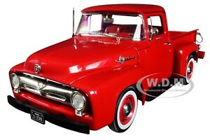 1956 FORD F-100 PICKUP TRUCK RED 1/25 DIECAST MODEL CAR BY FIRST GEAR 40-0414
