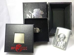 Evangelion Rei Ayanami OIL LIGHTER & RING Arcade Prize MIB Rare        150304e19