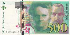 BILLET BANQUE 500 Frs pierre et marie CURIE 1994 SUP 497