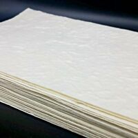 50x A5 Handmade Mulberry Paper Sheets Natural White Card Invitation Craft