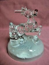 Rudolph Musical Figure Beautiful Heavy All Glass L@K