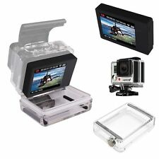 LCD BacPac Display Viewer + 2pcs Waterproof Backdoor Cover for GoPro HERO 4/3+/3