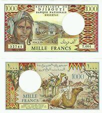 Djibouti * Beautiful Fr.1000 Banknote, P-37d, 1991 edition, perfect,  UNC.
