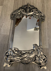 art nouveau style silver mucha wall hanging mirror Very Pretty