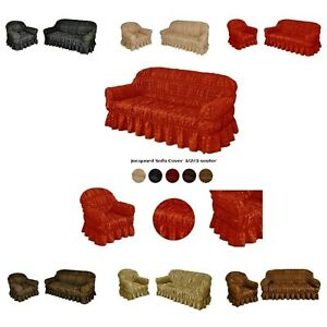 Jacquard Sofa Cover  for 1, 2 & 3 Seater in 7 Colours  / Alternate to Sofa Throw