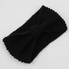 Women's Knitted Ear Warmer Bow Knot Headband Crochet Turban Bow Winter Hair Band