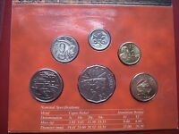 Australia 2002 Year of the Outback BUNC 6 Coin Set 5 Cent - 2 Dollars RAM folder