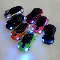 2.4G 1600DPI Mouse USB Receiver Wireless Light LED Car Shape Optical Mice New