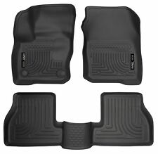 Husky Liners WeatherBeater Floor Mats-3pc- 99781- Ford Focus RS 2016-2018 -Black