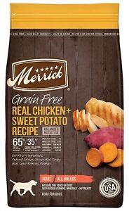 Merrick Chicken & Sweet Potato Recipe Adult Dry Dog Food, 10 lbs