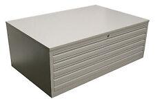 Papierschrank DIN-A1   Zeichnungsschrank 5 Schübe   Grafikschrank RAL 7035 GRAU
