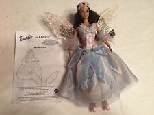 2003 Barbie Swan Lake Odette African American Doll Light Up Wings Works Great!!