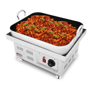 "Korean Rice Cake Maker   Tteokbokki Machine   Nonstick   18.6"" x 14.6""   110V"