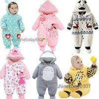Baby clothes newborn infant boys girls winter cotton quilted warm bodysuit