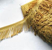 Gold Bullion fringe trim 6cm Trimming Sewing Crafts Edging FRINGING 1m or Reel