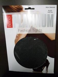New Berlei Platinum Ladies Pantyhose Tights Black Charcoal Med/Tall Tall/X-Tall
