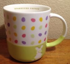 2007 Starbucks Coffee Mug, Easter, Rabbit, Bunny, Eggs, So Cute!