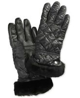 UGG 241529 Womens Quilted Water Resistant Cold Weather Gloves Black Size S/M