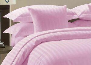 Pink Striped Split Corner Bed Skirt Choose Drop Length US Size 800 Count