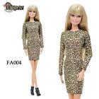 ELENPRIV FA004 Golden leopard mini dress for Barbie Pivotal MTM similar dolls