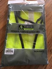 Cordova High Visibility Lime Green General Safety Vest Job Workwear