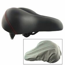 """Lumintrail 10.5"""" Wide Cruiser Saddle Extra Comfort Suspension Bike Seat w/ Cover"""