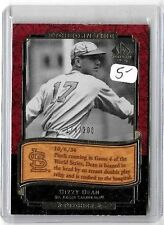 DIZZY DEAN  2002 SP ETCHED IN TIME # INSERT & 20 ALL DIFFERENT CARDS
