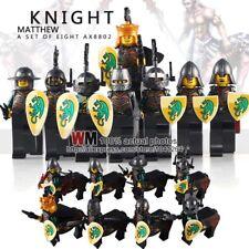 City,Castle,Green Dragon Centaur Horse Knights 8 Mini figures fit lego Uk Stock