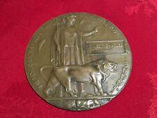 More details for wwi death plaque. ernest charles smith, worcester regiment