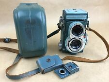 Minolta Miniflex TLR Camera w/ Rokkor 60mm f/3.5 & Leather Case - Rare