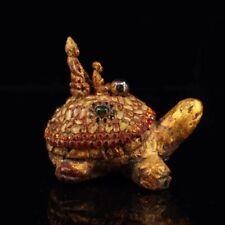 Chinese Hand-set gemstone Tibetan Buddha Dragon turtle  xc114