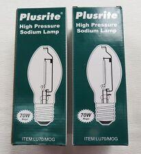 Lot of 2 Plusrite LU70/MOG ED23.5 High Pressure Sodium Lamp