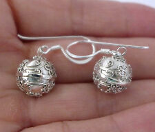 12mm 925 sterling silver harmony ball earring jingle muscial chime earring hh59